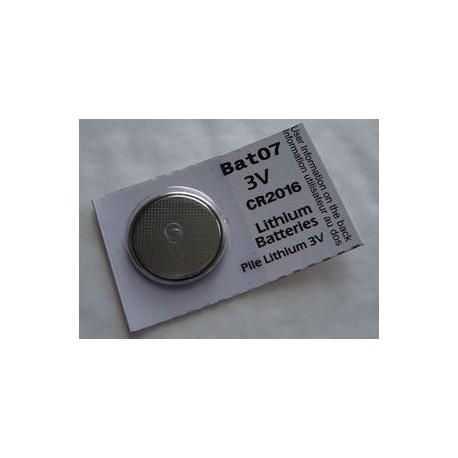 Pile lithium CR2016 3V BATLi07