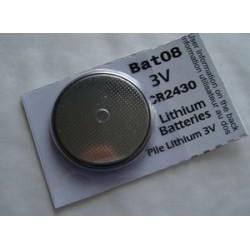 Pile bouton lithium 3V CR2430